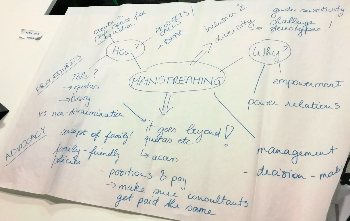 Hub 4 gender mainstreaming