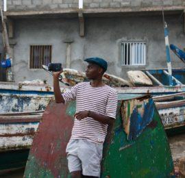 Didier filmer i Senegal