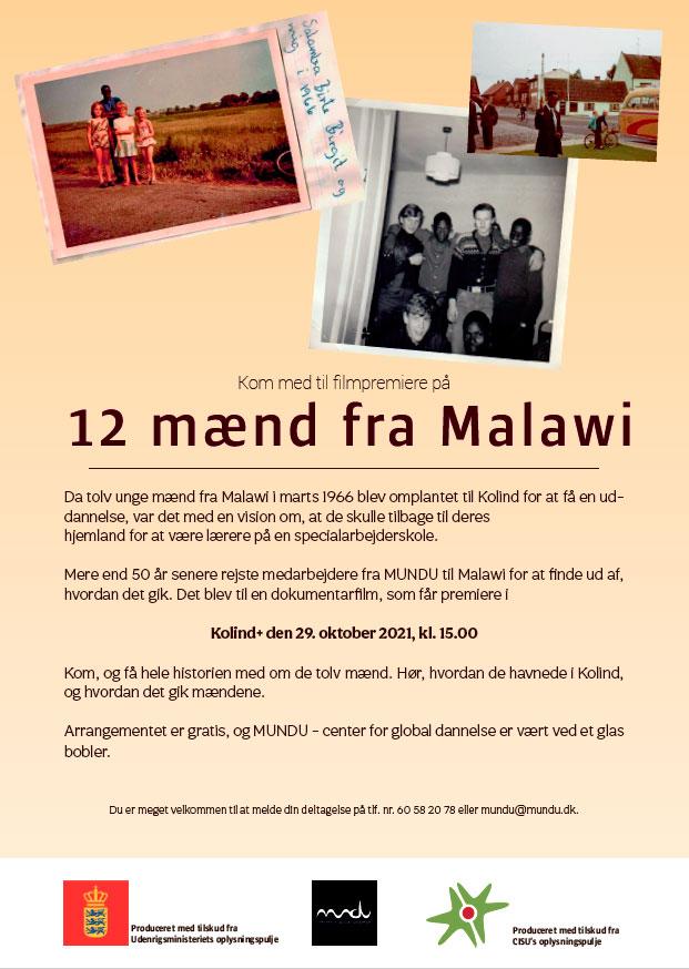 Indbydelse til premiere på film om 12 mænd fra Malawi