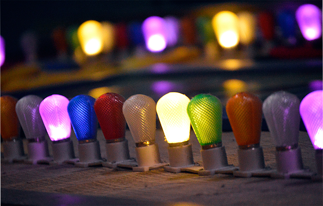 Ann Arbor, coloured light bulbs
